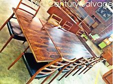 Danish Modern Rosewood Dining set Table Eight 8 Chairs JL Niels Moller