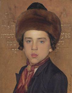 Isidor Kaufmann (1853-1921) — Portrait of a Boy  (800×1031)