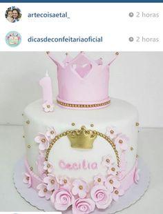 Baby Girl Birthday Theme, Girl Birthday Decorations, Baby Birthday Cakes, Torta Baby Shower, Crown Cake, Disney Cakes, Occasion Cakes, Girl Cakes, Celebration Cakes