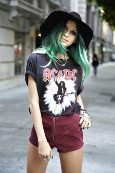 Green pastel hair