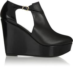 Robert Clergerie Filona cutout leather wedge boots on shopstyle.com