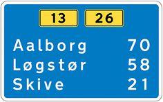 Traffic Sign Typefaces: Dansk Vejtavleskrift (Denmark) - Typography.Guru