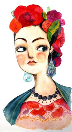 #Frida by Caterina Bianchetti #illustration #FridaKahlo - Carefully selected by GORGONIA www.gorgonia.it