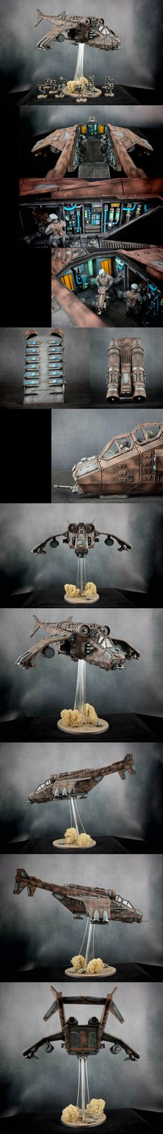 Astra Militarum, Militarum Tempestus, Imperial Navy - Valkyrie      Regiment: Lions of Leander VI      Warhammer 40k