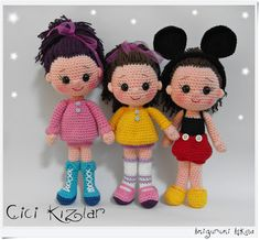 Crochet Pattern Human Doll : 1000+ images about Crochet Dolls & Dresses on Pinterest ...