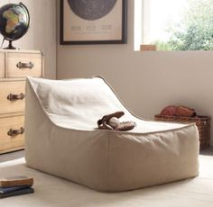 Bean Bag Lounger | Nothing better than a bean bag in front of entertainment unit