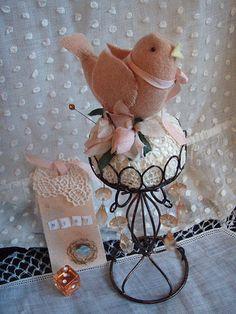 birdie pincushion | These little birds are my own design, I … | Flickr