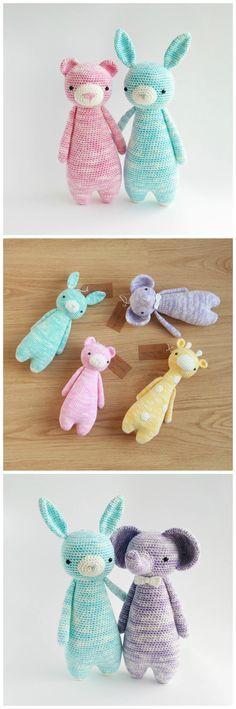 Crochet patterns by Little Bear Crochets, made with feza yarn: www.littlebearcrochets.com ❤️ #littlebearcrochets #amigurumi
