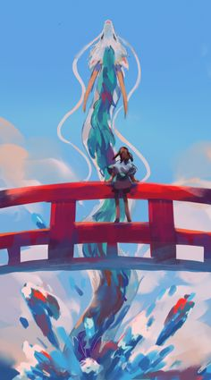 Spirited Away, an art print by Beanynne Hayao Miyazaki, Studio Ghibli Art, Studio Ghibli Movies, Animes Wallpapers, Cute Wallpapers, Studio Ghibli Characters, Studio Ghibli Spirited Away, Chihiro Y Haku, Howls Moving Castle