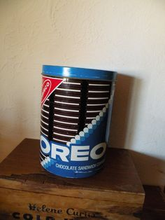 Vintage Metal Oreo Cookie Tin Canister by LaCharmoure on Etsy