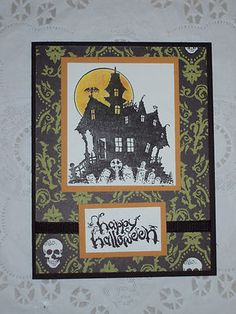 Haunted House Halloween Card Kit set of 6 Stampin Up