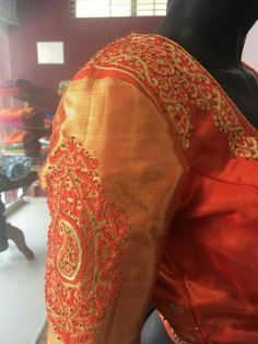 Kalamkari Kurti, Blouse Styles, Saree Blouse, Blouses, Embroidery, Boutique, Fashion, Moda, Needlepoint