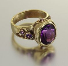 ring with purple tourmaline and purple sapphires by Audrius Krulis. Modern Jewelry, Fine Jewelry, Jewelry Making, Purple Sapphire, Purple Reign, Love Ring, Jewelry Rings, Jewellery, Amethyst