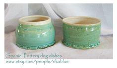 Spaniel dog bowl set