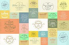 20 Rustic Wedding Badge & Stickers by KlapauciusCo on Creative Market