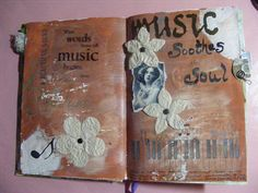 Music - art journaling, this brings the idea i was having before about a ceramic book.