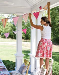 How to make pretty party bunting #spring #crafts
