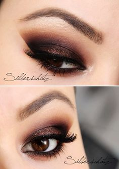 darkened copper smokey eye.