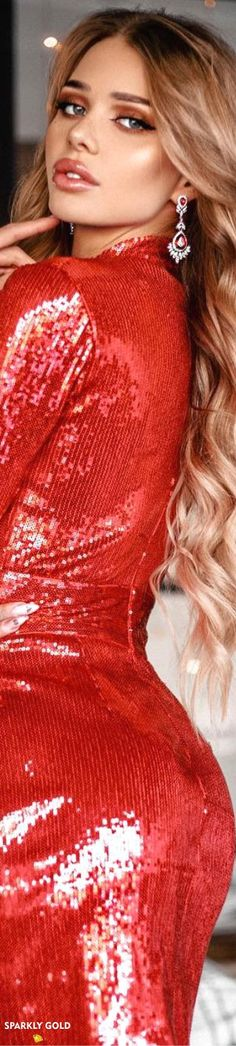 Little Red Dress, Office Outfits, Shades Of Red, Red Fashion, Lady In Red, Sequins, Photoshop, Glamour, Formal Dresses