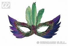 Our purple feather eyemask features purple, teale, pink and black feathers which accent the eyemask and have a green sequin trim around the eyes. Elegant Masquerade Mask, Eye Masks, Black Feathers, Purple, Pink, Colours, Eyes, Green, Pink Hair