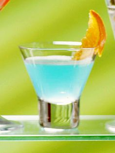 Blue curacao adds an orange flavor and tropical blue hue to this special cocktail recipe.