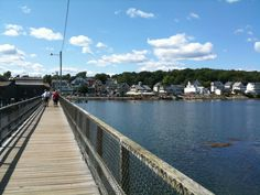 The bridge I used to walk on. The Foot Bridge - Boothbay Harbor Boothbay Harbor Maine, Maine Beaches, New England Travel, Honeymoon Places, Extended Family, Sidewalks, Southport, Lighthouses, Summer 2014