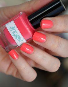Neon nail polish - Color me Coral