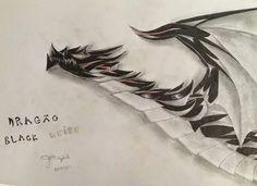 dragão black white , minha criação. minha página no facebook: https://www.facebook.com/Umdragaopordia