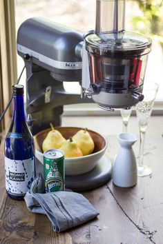 Did you know you could juice with your KitchenAid® Stand Mixer? @wanderlustkitch shows how to use the Juicer and Sauce Attachment to make these refreshing Pear Ginger Saketinis on the blog.