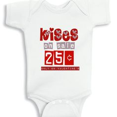 Kises on sale 25 cents only on Valentines by babyonesiesbynany, $13.75
