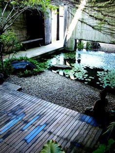 Buddha and pool