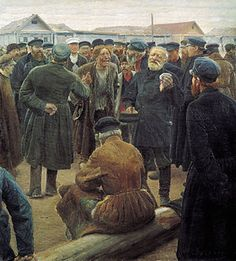 The vast majority of Russian peasants held their land in communal ownership within a mir community, which acted as a village government and a cooperative. Arable land was divided in sections based on soil quality and distance from the village. Each household had the right to claim one or more strips from each section depending on the number of adults in the household.