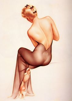 Vargas Pin Up Lithograph Poster (Anna)