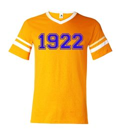 The 1922 SGRHO Sigma Jersey is a home run for sorors who like to take it back. It features a vintage look with a simple design symbolizing the sorority's founding year. - 4.8 oz., 50/50 cotton/polyest