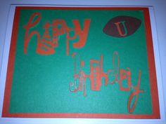 University of Miami birthday card (front)