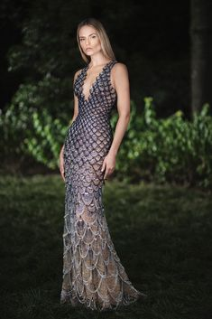 Natasha Poly Stuns in Atelier Versace's Fall 2018 Designs
