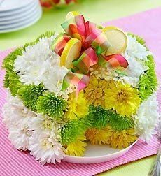 Gift your host this Easter with something different - Easter Flower Cake!