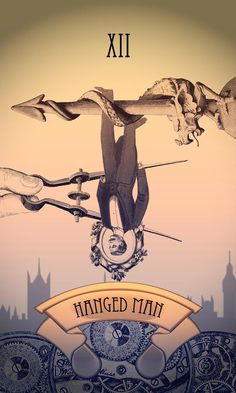 Steampunk Tarot Card: The Hanged Man by Tiabryn71