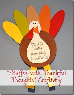 """""""Stuffed with Thankful Thoughts"""" Craft and Writing Activity"""