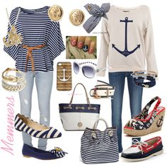 cute nautical outfits- I've been so obsessed with anything nautical lately⚓