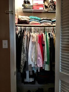 New Mama's Corner: Small closet ideas: Organization solutions that work in the master bedroom