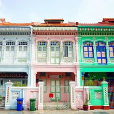 Peranakan Houses along Koon Seng Road - Singapore
