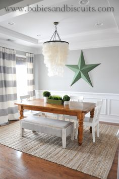 Light French Gray By Sherwin Williams Pottery Barn Table Called Sumter And White Ikea Dining