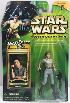 (TAS033209) - 2000 Hasbro Star Wars Power Of The Jedi Leia Organa Action Figure