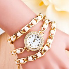 Korea Style Alloy Pearl Beads Bracelet Watch sold by Watch Me. Shop more products from Watch Me on Storenvy, the home of independent small businesses all over the world.