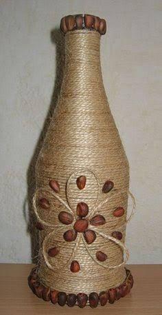 Resultado de imagem para garrafas decoradas com sisal