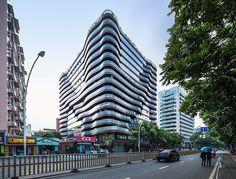 NEXT Architects reveals the undulating Shouxi Stone-inspired Fuzhou apartment complex!