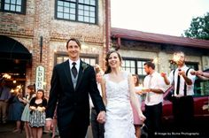 Twilight sparkler exit | A Joyful Athens Wedding | Blume Photography