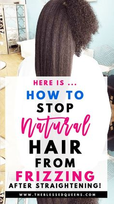 How To Stop Natural Hair From Frizzing After Straightening! – The Blessed Queens Natural hair models – Hair Models-Hair Styles Big Curly Hair, Curly Hair Tips, Braids For Black Hair, Curly Hair Styles, Curly Girl, Grease Hairstyles, Straight Hairstyles, Braided Hairstyles, Natural Hairstyles