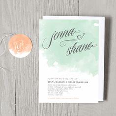 Swell Wedding Invitations - Wedding Invitations - Wedding | Smitten on Paper    wow.